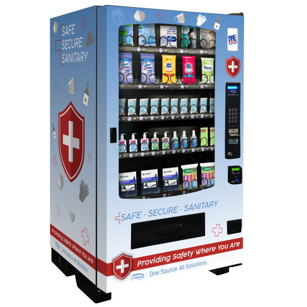 Seaga INF5S PPE Vending Machine Side View Product Image