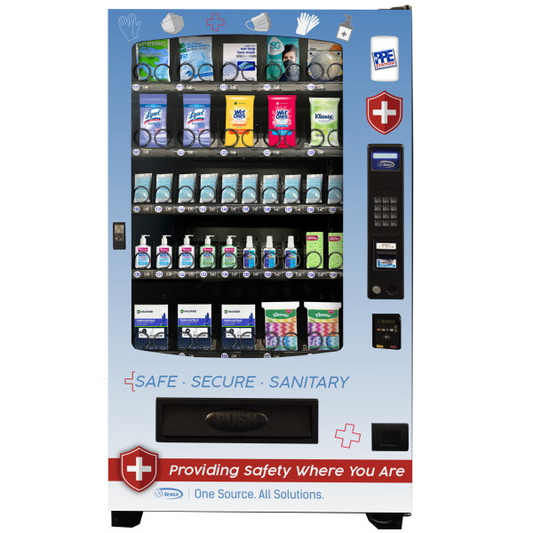 Seaga INF5S PPE Vending Machine Front View Product Image