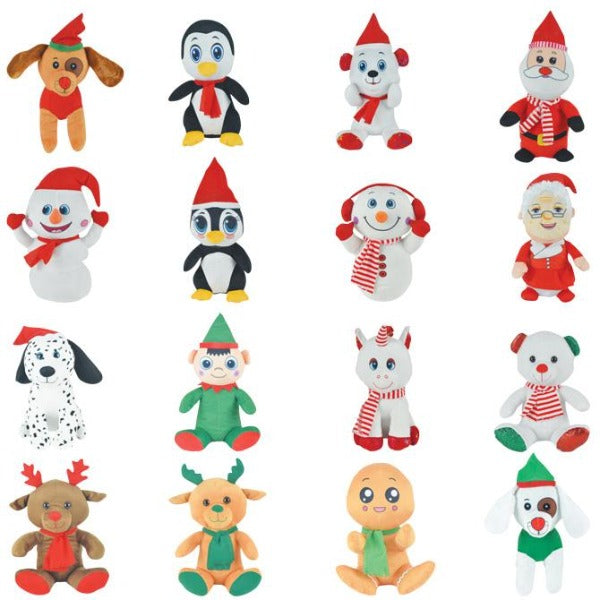 Jumbo Generic Christmas Plush Mix 48 ct Product Image