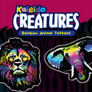 Kaleido Creatures Rainbow Animal Tattoos Product Image