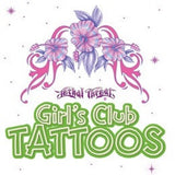 girls club vending tattoos in cardboard folders