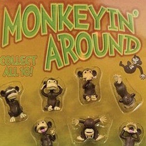 Monkeyin Around Figurines 2 Inch Toy Capsules