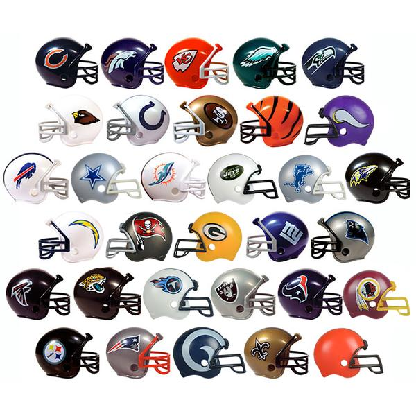NFL Pencil Topper Helmets Tomy Compatible 2 Inch Toy Capsules Product Detail