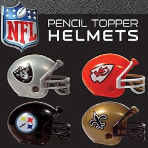 NFL Pencil Topper Helmets Tomy Compatible 2 Inch Toy Capsules