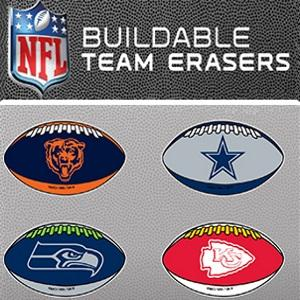 NFL Football Puzzle Erasers Tomy Capsules