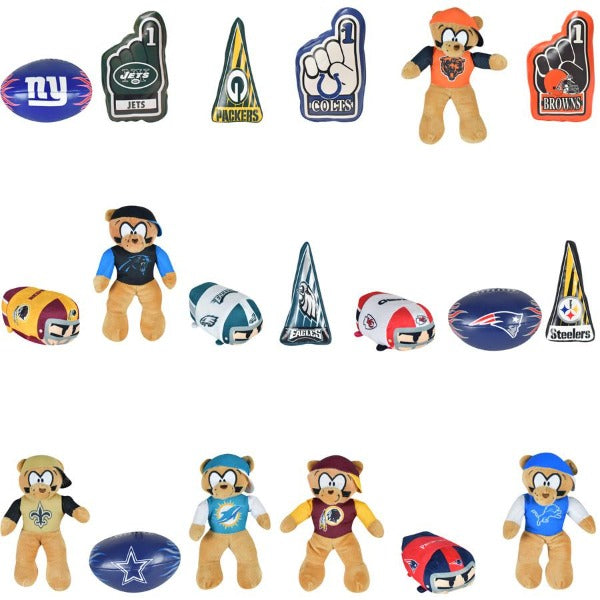 100% Licensed NFL Small Plush Mix 72 ct Product Image