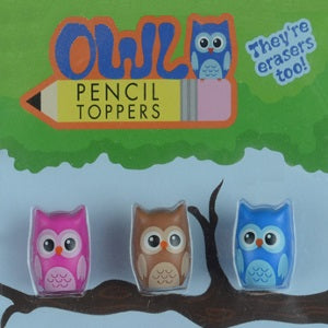 "Owl Pencil Toppers 1"" Capsules"