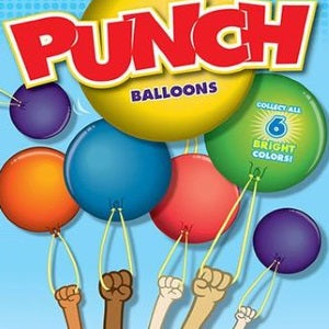 Punch balloons in 2 inch vending capsules