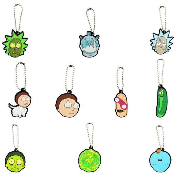 "Rick and Morty 2-D Figure Keychains 2"" Capsules Product Detail"