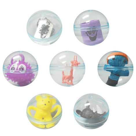 "Assorted 2.3"" round toy vending capsules with premium toys Product detail"