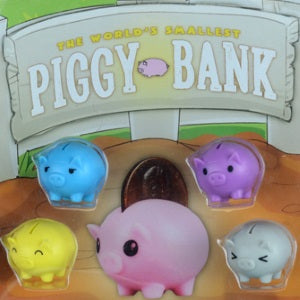 World's Smallest Piggy Bank 1 inch capsules