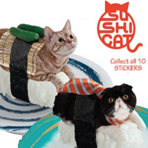 Sushi Cat Stickers
