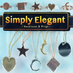 Simply Elegant Jewelry Collection one inch capsule toys gold silver rose gold necklace ring product image