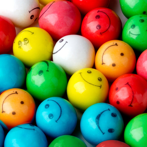 Assorted Smiley Face Gumballs Product detail