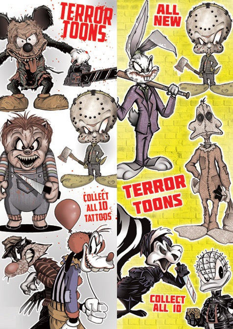 Terror Toons Tattoos double sided display