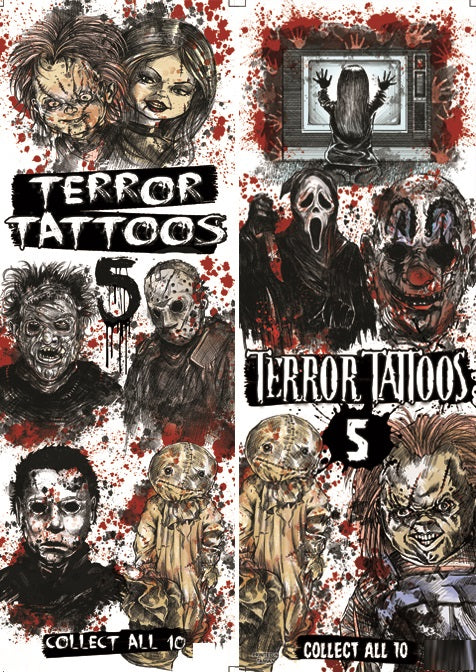 Terror Tattoos Series spooky horror vending machine product detail