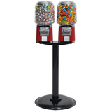 Titan Round Double Head Candy Gumball Machine with Stand