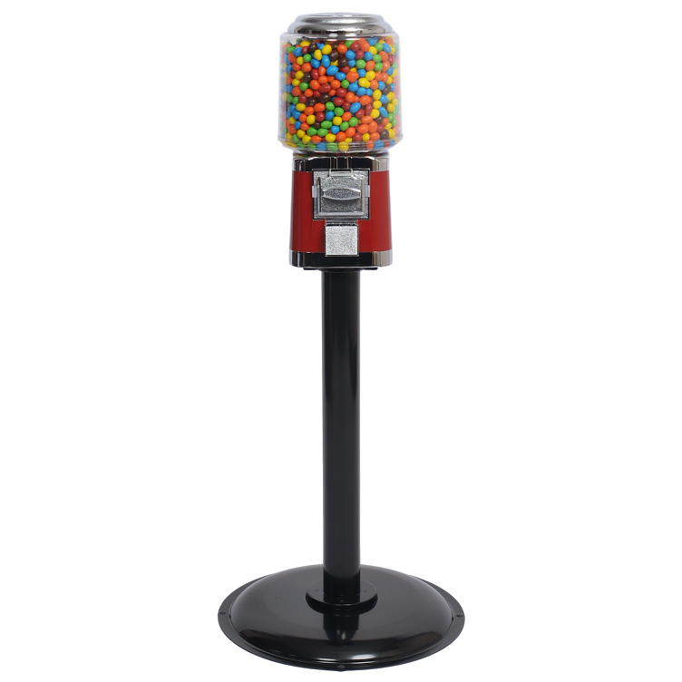 Titan Round gumball and candy machine on a stand