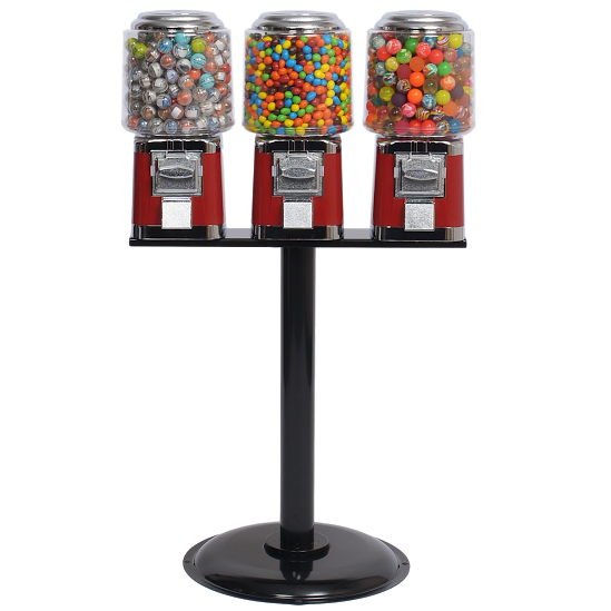 Titan Round Triple Head Bulk Gumball Machine