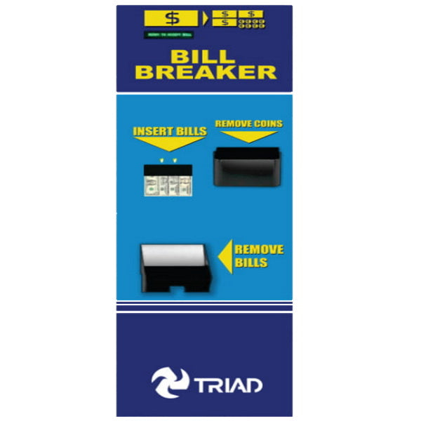 Triad 500RL Dual Rear Load Bill Breaker Change Machine Product Image