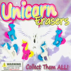 "Unicorn Erasers 2"" Capsules Product Detail"