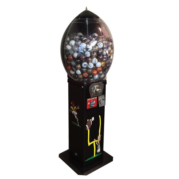 Football-A-Roo two inch capsule, bouncy ball machine
