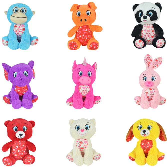 Valentine's Day Non-Licensed Jumbo Plush Mix 54 ct Product Image