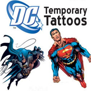 DC Comics Superhero Temporary Tattoos