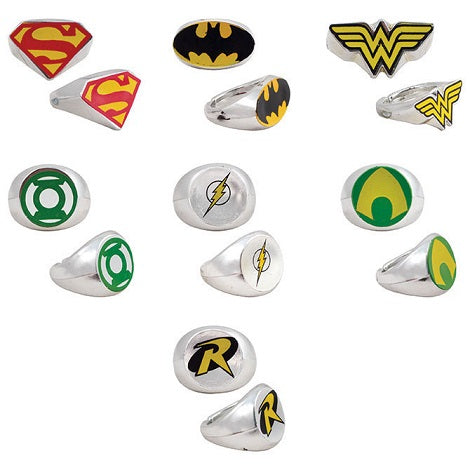 Bulk DC Comics Power Rings 100 ct