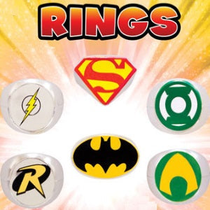 DC Comics Power Rings in 1.1 inch toy vending capsules