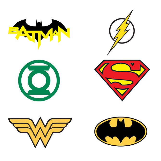 Bulk DC Comics Logo Tattoos 1200 ct