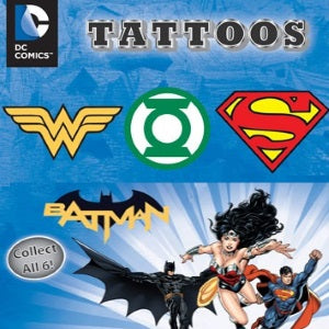 DC Logo Tattoos in 1 inch capsules