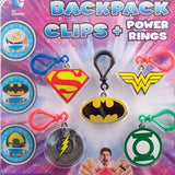 DC Comic Backpack Clips + Power Rings in 2