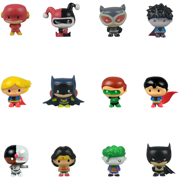 DC Comics Chibi Figurines in Bulk Bag 100 count superhero superman batman