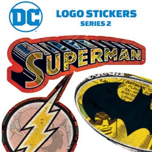 DC Logo Stickers in folders