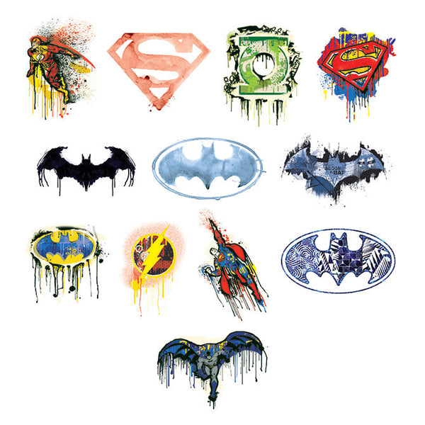 DC Superhero logo tattoos