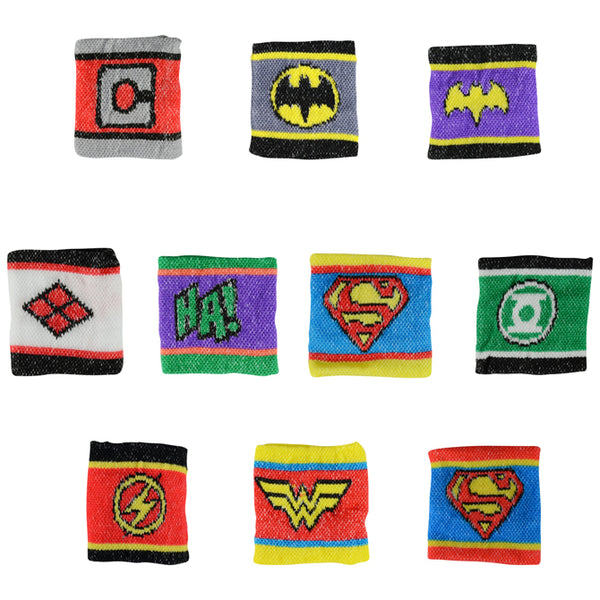 dc comics superhero villain logo wristbands bulk toy product detail superman batman