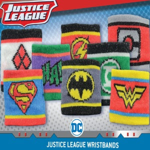 dc comics superhero villain logo wristband two inch capsule toy product display superman batman