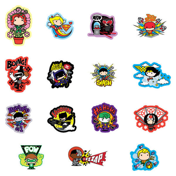Justice League Chibi Stickers Product Detail