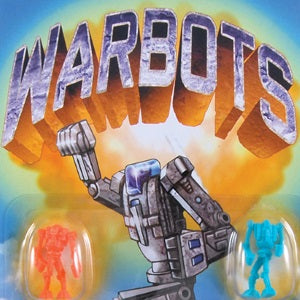 Warbots 1 inch capsules display