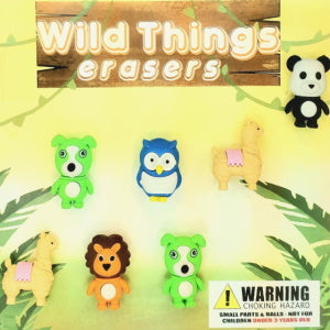 "Wild Things Erasers 2"" Capsules Product Image"