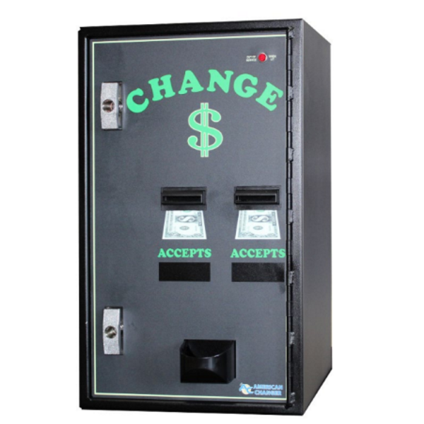 AC2002 Dual Bill-to-Coin Changer Front View Product Image