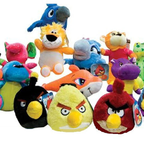Angry Birds Rio 50% Licensed Medium Plush Mix - 144 ct
