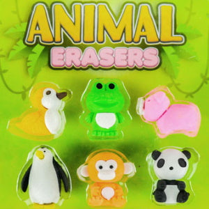 "Animal Erasers 1"" Capsules Product Image"