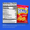 bugles classic original snack chips back view bag with nutrition and ingredients