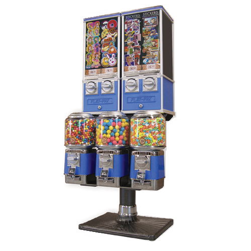 Beaver 5 head combination bulk vending machine