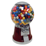 Big Bubble Gumball Machine in color maroon