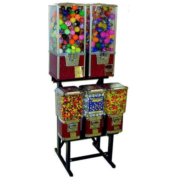 5 Unit Big Pro Combo Rack Vending Machine
