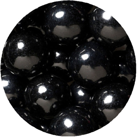 1-inch black colored gumballs in 2 pound bag