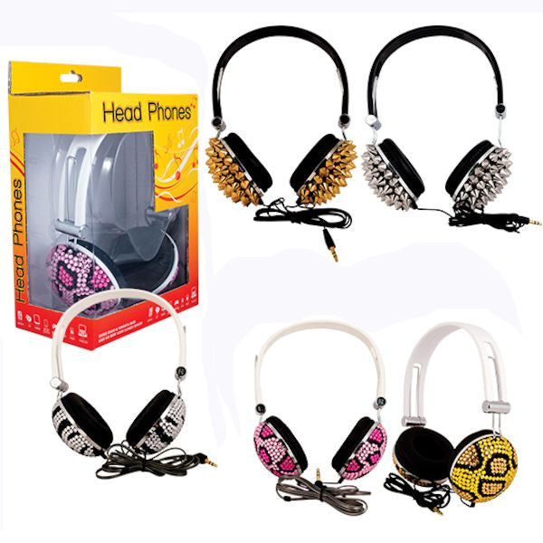 Product detail of Bling style headphones for crane machine